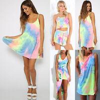 Womens Summer Chiffon Beach Wear Bikini Cover Up Kaftan Boho Swing Sun Dress
