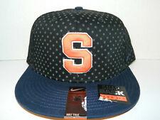 be718b34342 Syracuse Orange Navy bill Su Hat Nike ADult Cap Adj SNAPBACK DNA True Black  New