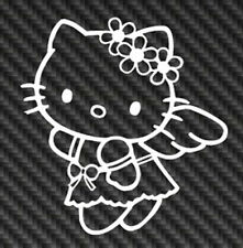 Hello Kitty Angel Vinyl Sticker Decal Laptop Smile Cute Bow Sanrio Girl