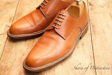 Men's A Testoni Brown Tan Leather Derby Lace up Shoes Uk 8 Us 9 Eu 42