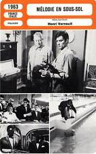 FICHE CINEMA : MELODIE EN SOUS SOL - Gabin,Delon,Verneuil1963 Any Number Can Win