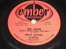 Billy Myles: The Joker / Honey Bee 78 - Ember 1026