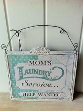 """Retro Vintage signo' Mamá de Servicio de lavandería Help Wanted """"Divertido Día De La Madre Regalo"""