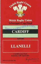 Welsh Cup Final 1985 Cardiff V intensificación Rugby programa