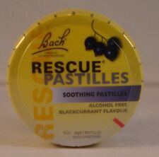 Bach Rescue Remedy Pastilles New Blackcurrant Flavour Six Tins