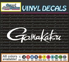 "7"" Gamakatsu Fishing Tackle Hooks sports outdoors car truck vinyl decal Sticker"