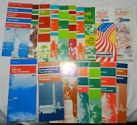 Lot of 16 Vintage 1970's Amtrak Train Public Time Tables, National and Local