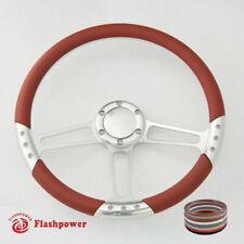 """14"""" Billet Steering Wheel Burgundy Half Wrap horn button GMC Blazer"""