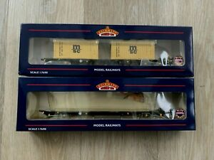 BACHMANN 37-312 INTERMODAL BOGIE WAGONS +2 X 20FT CONTAINERS MSC-TWIN PACK-boxed