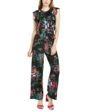 MSRP $198 Trina Trina Turk Floral-Print Ruffled Jumpsuit Size 2