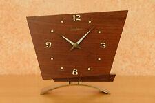8 Tage mechanisch Uhrwerk Junghans Tischuhr Holz 70er Jahre Vintage shabby chic
