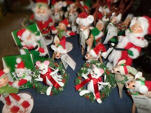 LOT 18 NEW Annalee Reindeer, Mice, Elves, Santa and Mrs. Claus