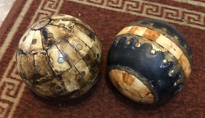 A Pair Of Decorative Antique Ivory (?) Balls