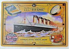 """PLAQUE TOLE DECO VINTAGE 20 x 30 cm Bateau/Boat """"TITANIC"""" Neuf Emballé"""