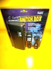 NEW SEALED SWITCH BOX TRANSFORMER ALL 4 SYSTEM AV / S-VIDEO TO RF SWITCH BOX
