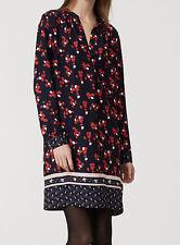 NWT Ann Taylor LOFT Floral Print Split Neck Shirt Dress Size XXL