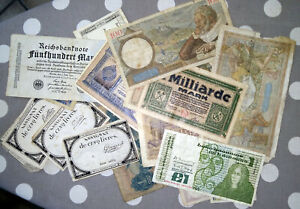 Lot 18 billets de banque assignats Franc Reichsbanknote Peso Livre