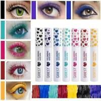 Colored 4D Silk Mascara Fiber Eyelash Waterproof Extension Makeup Eye Lashes HOT