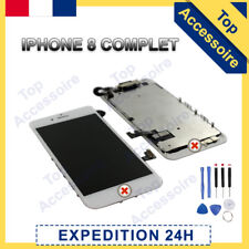 ECRAN COMPLET LCD RETINA + VITRE TACTILE SUR CHASSIS POUR IPHONE 8 BLANC +OUTILS