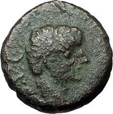 AUGUSTUS 27BC Philippi Macedonia PRIESTS Founding City Oxen Roman Coin i67907