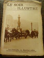 Le Soir Illustré - Les Funérailles du Maréchal Joffre - 10/1/1931