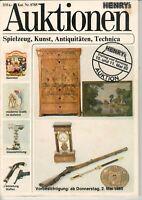 HENRY'S AUKTIONEN - Sammler Heft Katalog Antiquitäten Mai 1985 - B15302