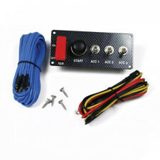 Grayston Carbon Effect Starter Switch Panel With 3 Accessory Switches