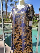 NEW Lularoe Carly dress L Elegant Collection gold flowers navy cruise cocktail