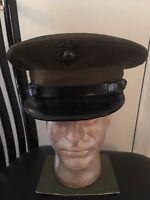 Ww2 Usmc Officers Lancaster Hat Size 7 No Holes
