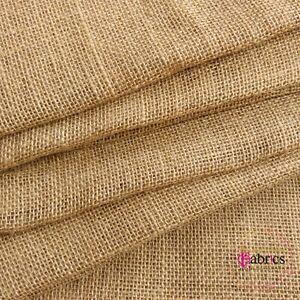 "Hessian Fabric Woven Natural Jute Burlap Garden Craft Sack Upholstery 40/54/62"""