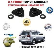 FOR PEUGEOT 4007 2007->NEW 2X FRONT TOP SHOCKER STRUT MOUNTING + BEARING SET