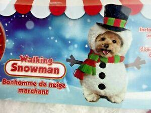 Rubie's Costume Co Walking Snowman Pet Costume Scarf Hat Pet Shop Boutique NEW