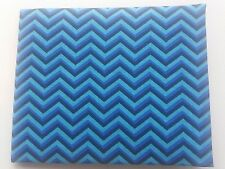 Disabled Blue badge holder wallet cover BLUE ZIG  ZAG fabric Hologram safe gift