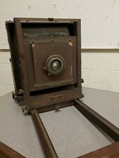 antique wood Eastman Kodak Co Number 2-D View Camera 8x10 5x7 tripod,lens, lot