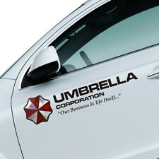2× Resident Evil Umbrella Corporation Auto Aufkleber Vinyl Schwarz Tür 50×11 cm