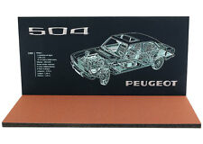 Diorama Présentoir Peugeot 504 - 1/43ème - #43-2-c-c-017