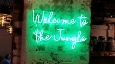 Welcome To The Jungle Neon Sign Acrylic Light Man Cave Open Bar With Dimmer