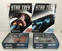 Star Trek Starships Collection 16 Marauder & 17 NX-01-A Models Unopened