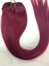 "Clip In Hair extensions 20"" Burgundy #530 100 gram 8 pces"
