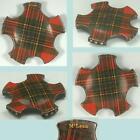 Antique McLean Tartan Ware Combination Thread Winder & Pin Cushion * Circa 1880