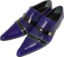 100% CHELSY - italien designer mocassins motif filet noir bleu vert 43