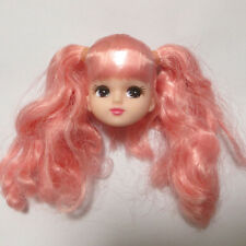 New Cute Head for Licca Doll White Skin with Pink Hair Girl's Gift