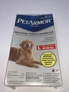PetArmor Plus Flea & Tick For LARGE Dogs 45 - 88 Lbs, 3 Applications