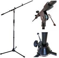 keepdrum  MS106 BK Mikrofonständer Stativ mit Galgen