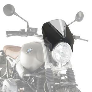 Puig Retrovision Nose Fairing Black Clear Screen BMW R Nine T Scrambler 17 - 21