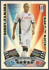 TOPPS MATCH ATTAX 2011-12- #381-MOTM-FULHAM-BOBBY ZAMORA