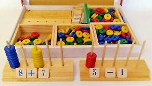 Lakeshore See & Solve Wood Math Manipulative Kit Learning Toy Homeschool Teacher