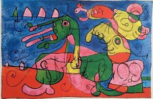 Ubu Roi, 1965 Offset Lithograph, Joan Miro - RARE