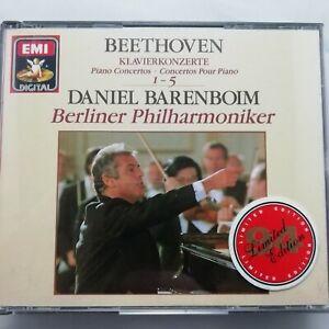 Beethoven: Piano Concertos 1 - 5 / Barenboim / BPO / EMI 3 CD box CDS 7 47974 8