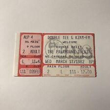 Bonnie Raitt Paramount Theatre Concert Ticket Stub Rare Vintage March 17 1982